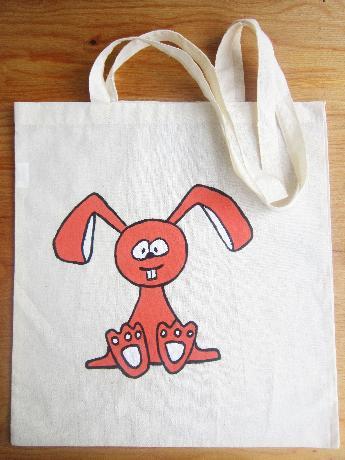 """Рисувана чанта с дълги дръжки """"Заек"""""""