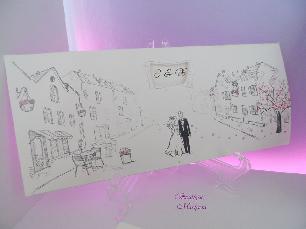 Рисувани сватбени покани