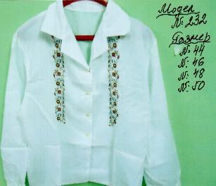 ризи с ръчно изработена шевица