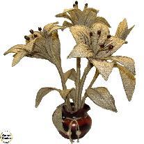 Сувенир - Ръчно изработено цвете Лилиум. Модел DM-9050