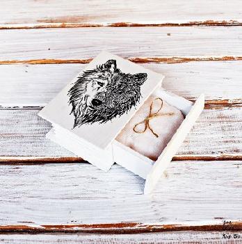 Сватбена кутия книга за халки пръстени