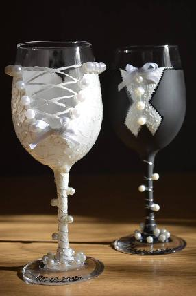 Сватбени чаши ''Булка и Младоженец''