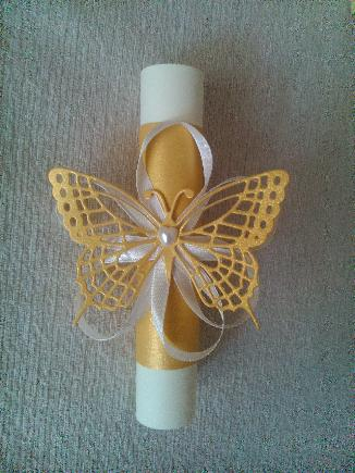 сватбена покана с пеперуда