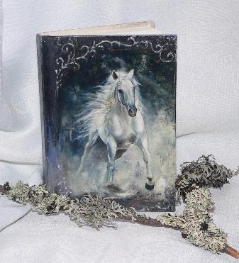 Тефтер ръчно декориран с кон