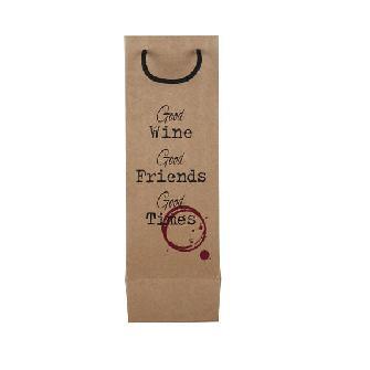 Торба за бутилка вино от крафт хартия