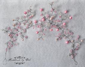 Украса за коса в нежно розово