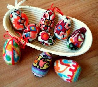 """Великденски """"Писани"""" яйца 100%вълна"""