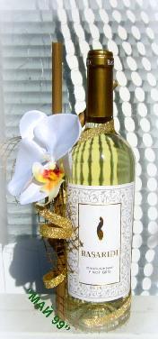 Вино BASARIDI с екзотична бяла орхидея