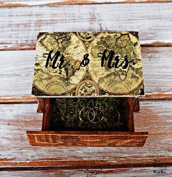 Винтидж кутия за сватба, Мистър и Мисис сватбен подарък