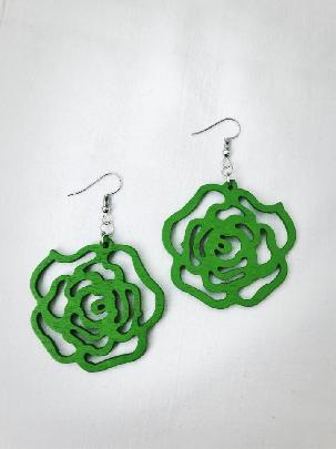 Зелени обеци