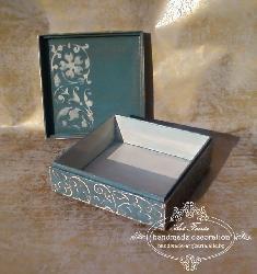 Ръчно декорирана кутия - Atelier Roses, shabby chic, vintage