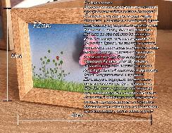 3D пожелание в рамка