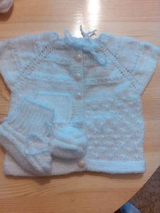Бебешки комплект - елече и чорапи