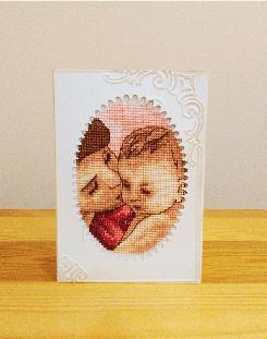 Бродирани картички
