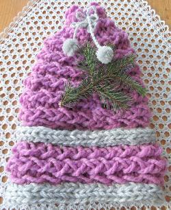 Бутиков комплект зимна шапка с цвете и шал яка