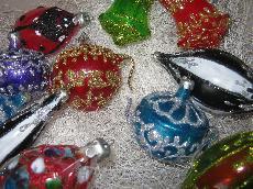Бутикови стъклени играчки за елха