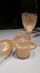 """Чаши за вино със свещник """"Романтика""""-комплект"""