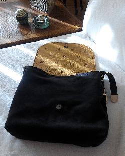 Чанта близнак с велур