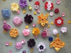 Цветя от сатен