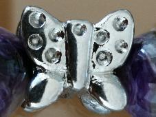 Дамска Гривна от 10 мм Натурален Черен Турмалин и Медицинска Стомана, Ръчна изработка Стреч