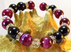 Дамска гривна от естествени камъни Ахат и Оникс - DM-2264