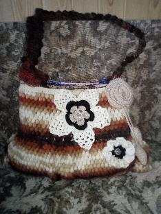 Дамска ръчно плетена чанта