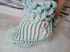 Дамски пантофки плетени