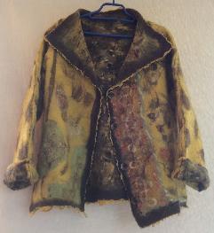 Дамско двулицево сако от филц