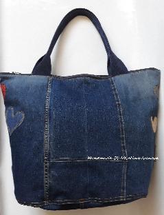 Дънкова чанта ръчна изработка