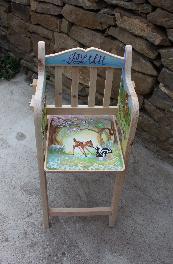 дървен стол за хранене