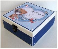"""Дървена кутия - Бебешки съкровища """"Куче"""""""