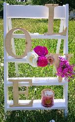 Дървени обемни букви за декорация