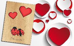 Дървени поздравителни картички.