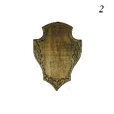 Дърворезбована дъска за трофей от сръндак