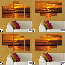 Декоративно пано за стена от 5 части - Морски залез - HD-541