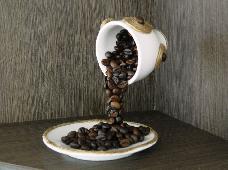 Декориранa летяща чашка за кафе за подарък