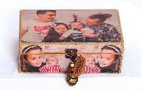 Декупаж на фотографии върху дървена кутия