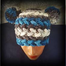 Детска шапка. Шапка ръчна изработка. Плетена шапка. Шапка ръчно плетиво. Оригинална шапка handmade.