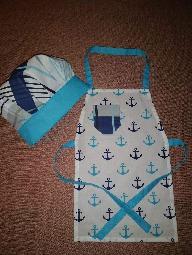 Детски комплект за малки готвачи Престилка и шапка