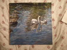 Два лебеда - картина