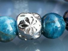 Гривна от 10 мм Микс от Натурални Камъни и Медицинска Стомана Ръчна изработка Стреч
