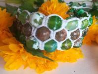 Гривна шамбала с естествени камъни - ахат