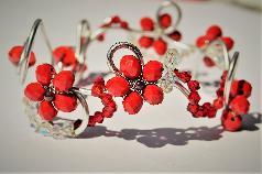 Гривна,Червени цветя,,