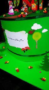 """Хартиена  торта """"Червената  шапчица"""""""