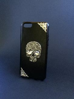 Калъф с череп за iPhone 6, 6s