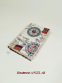 """Калъф за книга от плат  """"Морски свят 5"""""""
