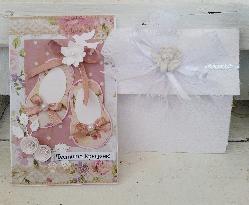 Картичка и плик за пари за кръщене