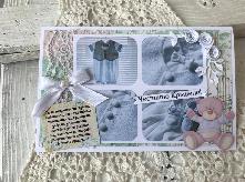 Картичка или плик за пари за кръщене с пожелание