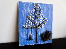Картина от дърво и камък