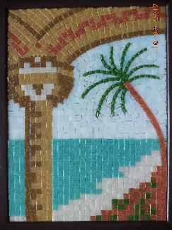 Картина от мозайка,мозаечна картина